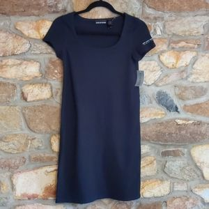 DKNY jeans black sheath dress